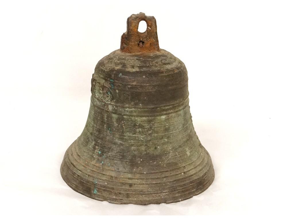 Bronze Antique Brass Bell Chapel Cross Bell French Xvii 1699