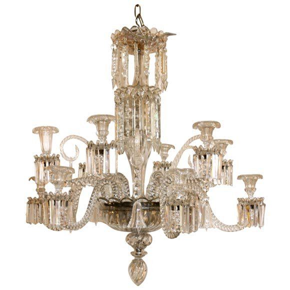 A Twelve Arm Baccarat Chandelir With Bells And Scrolls It Is Still For Candles We Will Wire If Usa Status Reference F 1 06 52 Condition