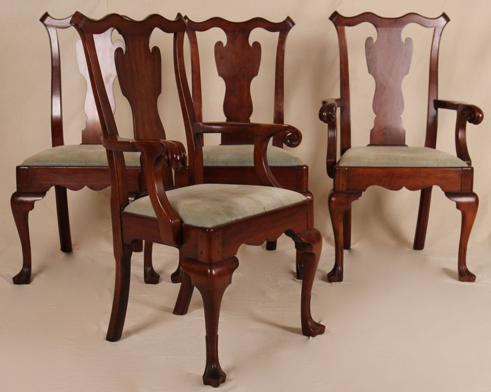 Queen Anne Cherry Dining Room Set