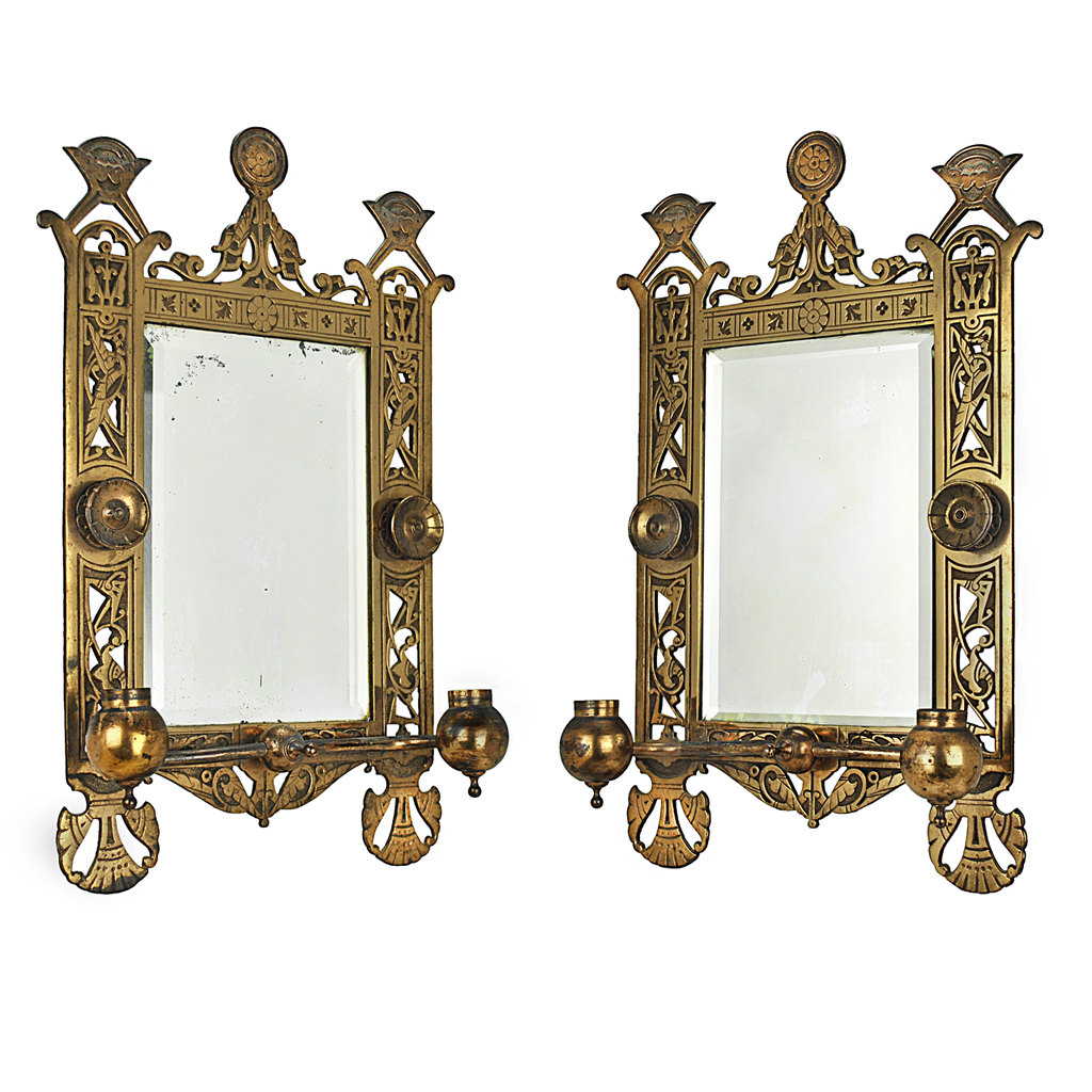 Eastlake Victorian Pair of Candle Sconces Brackets w ... on Antique Style Candle Holder Sconces id=23562
