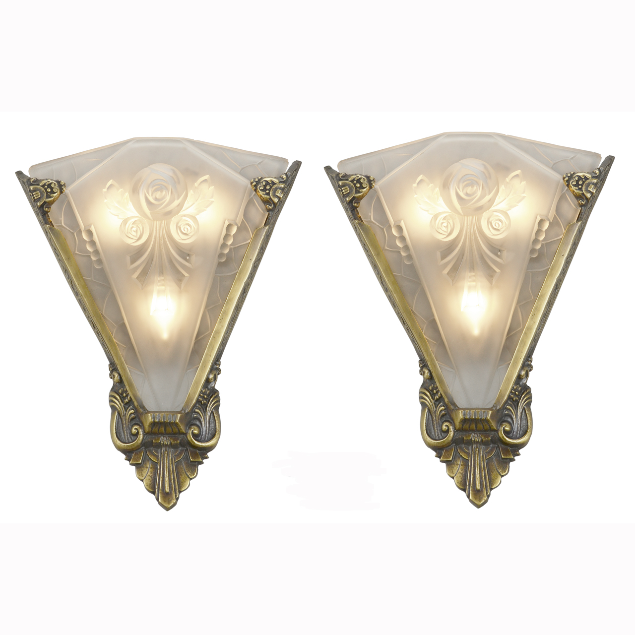 Pair of Large Wall Sconces Lighting with Antique French ... on Vintage Wall Sconces id=77307
