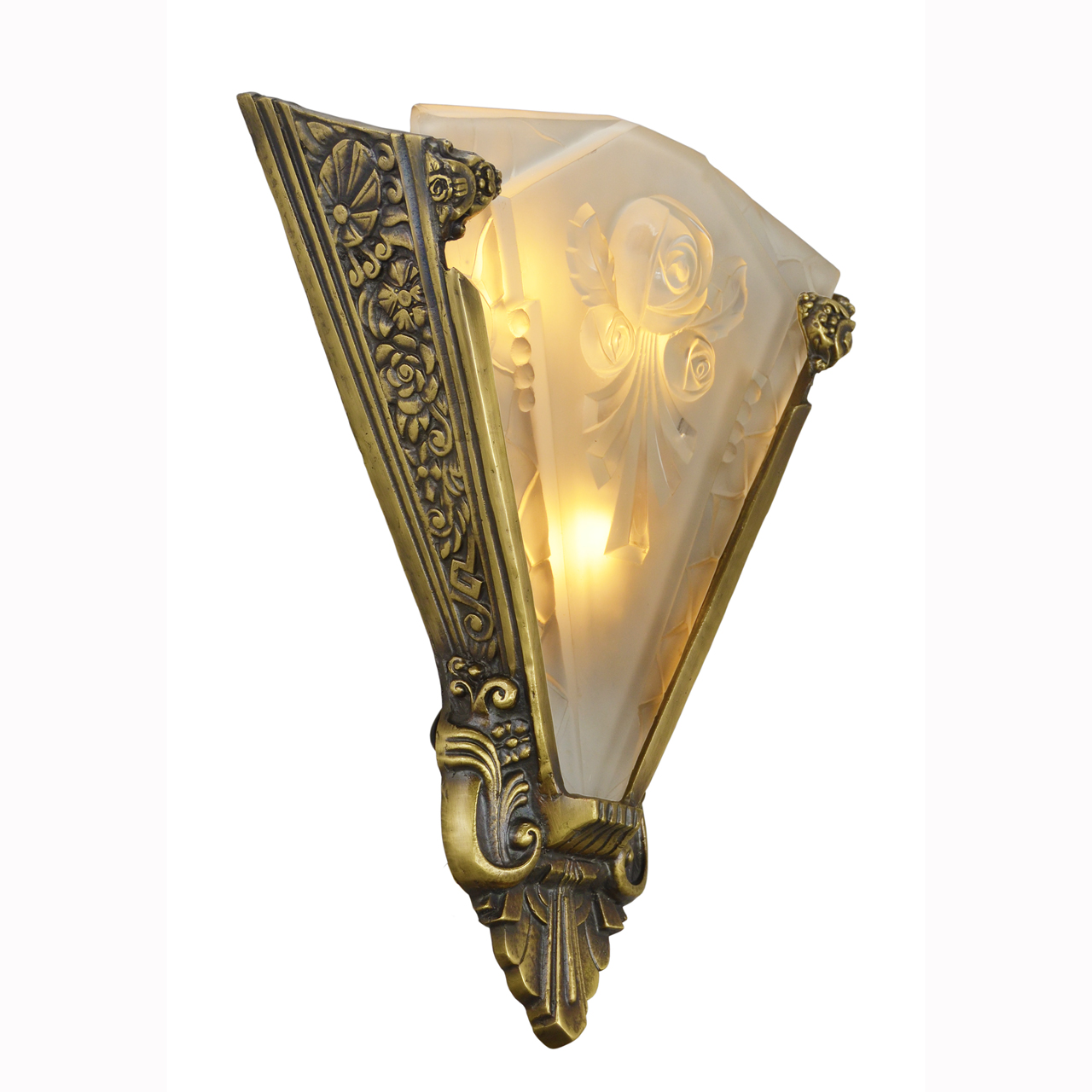 Pair of Large Wall Sconces Lighting with Antique French ... on Vintage Wall Sconces id=13037