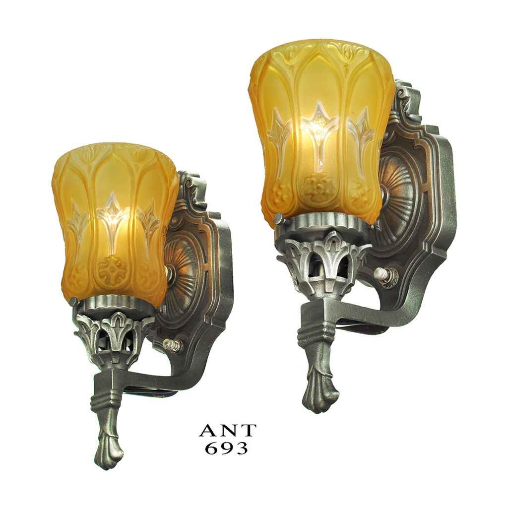 Antique Wall Sconces Pair of Edwardian Style Lights with ... on Vintage Wall Sconces id=98735