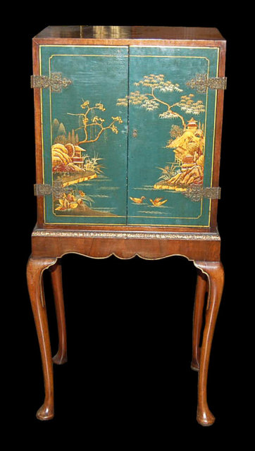 English Chinoiserie Cabinet For Sale
