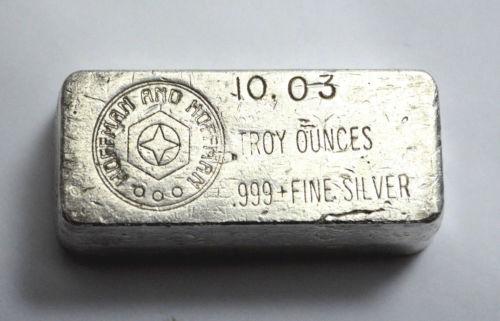 Vintage 10 03 Troy Ounce Hoffman Amp Hoffman Silver Bar