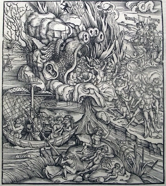 Medieval Woodcut Print from Johannes Grüninger's 1502 Edition of the Aeneid