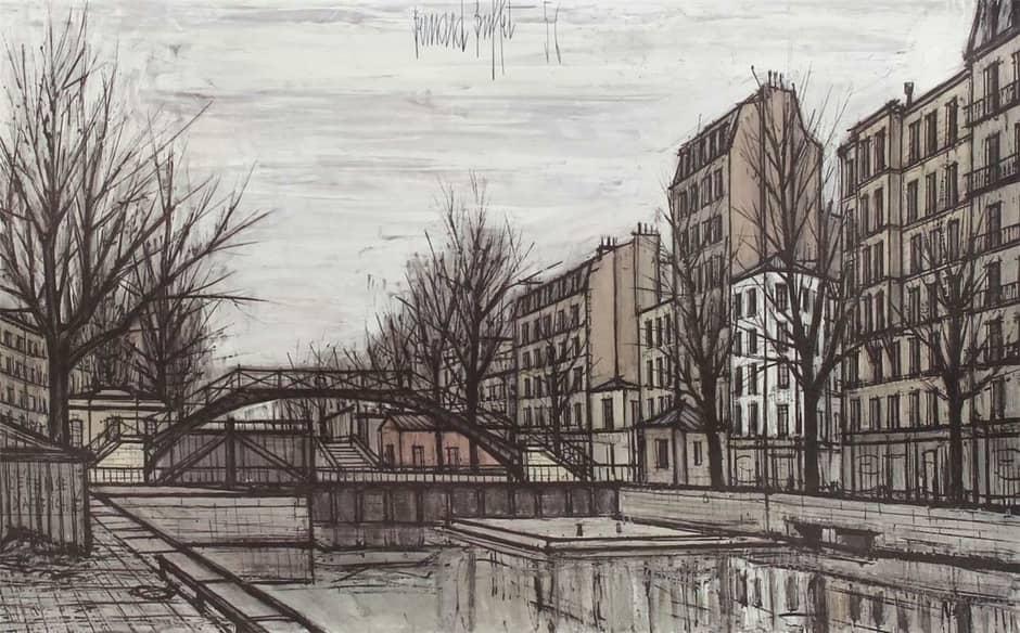 1956 Bernard Buffet Lithograph Print - St. Martin Canal ...