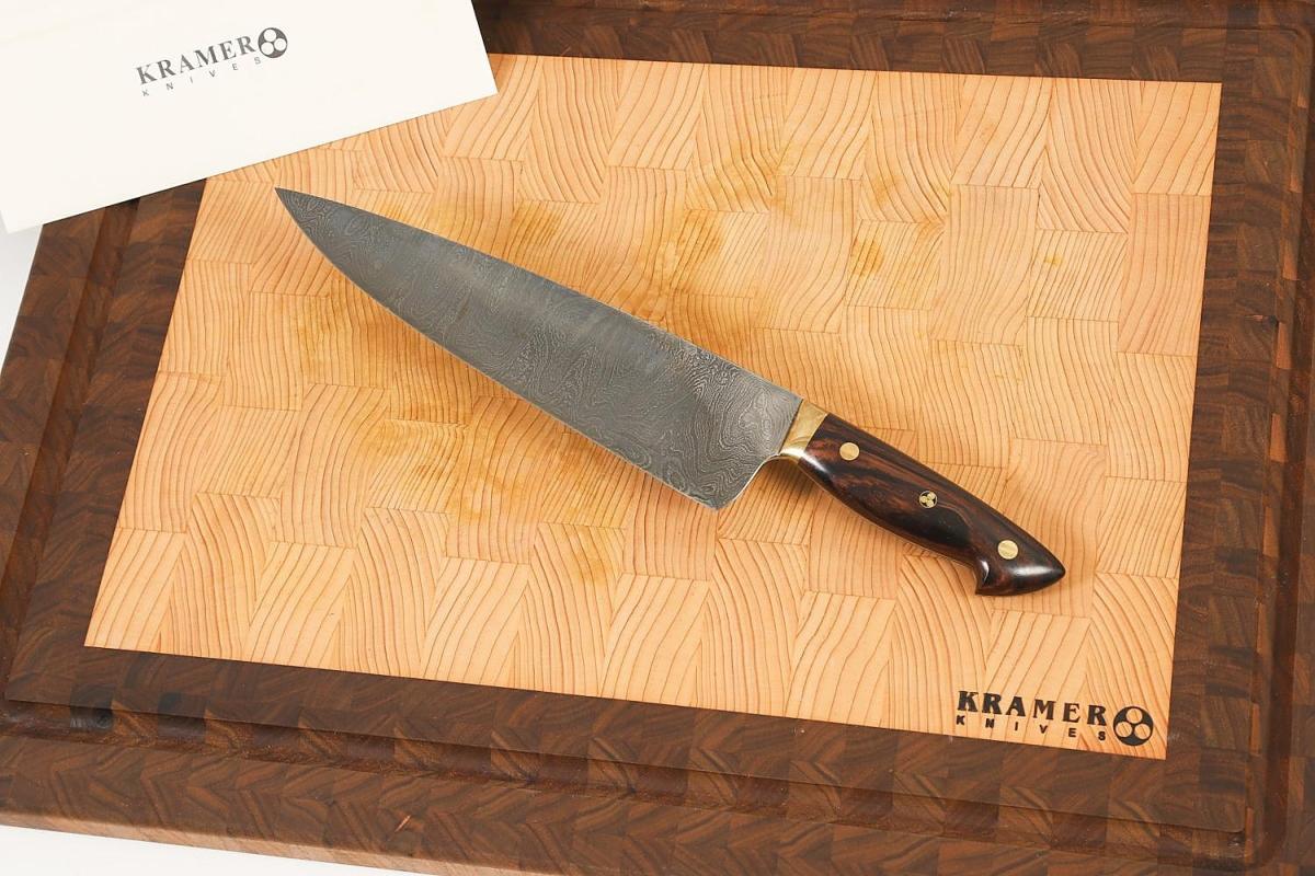 5897303 Bob Kramer Custom Damascus Pattern Chef Knife