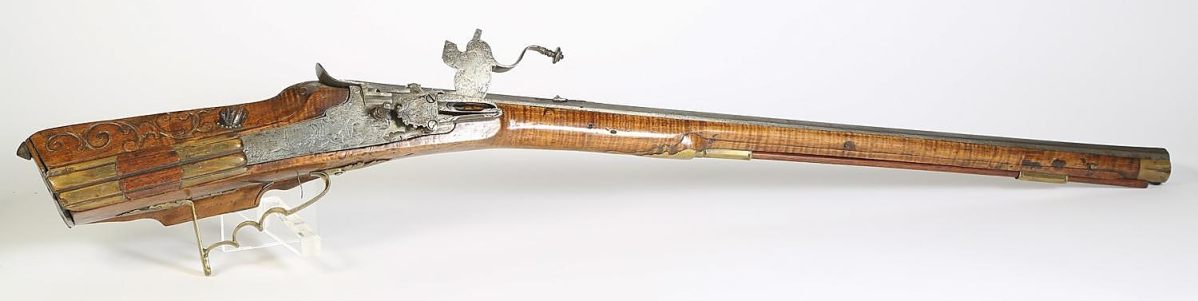 5898079 German Wheellock, Engraved, Sporting Rifle