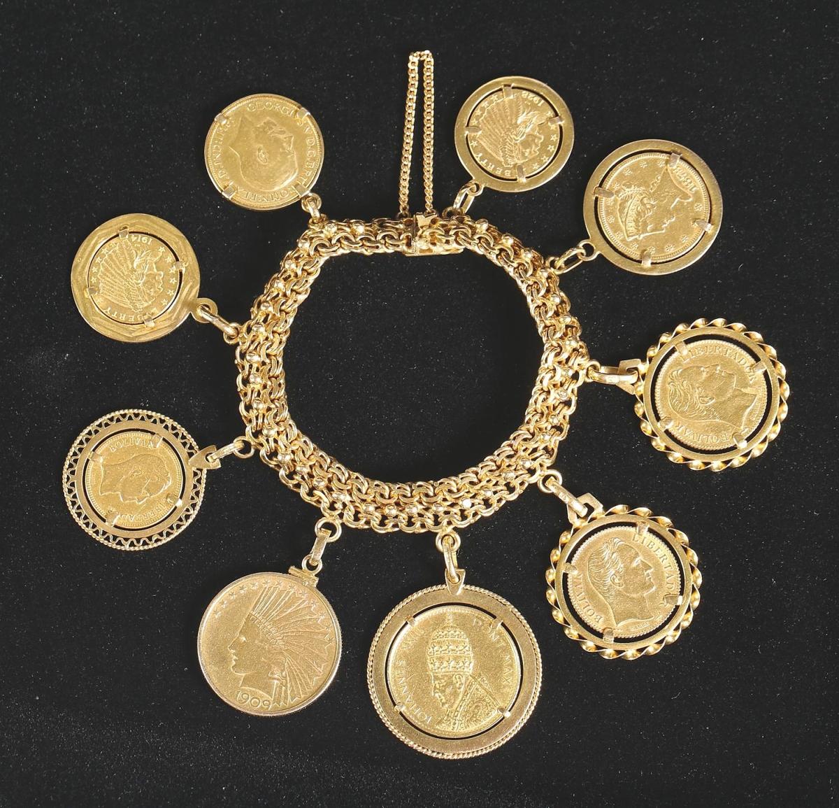5898096 Gold Coin Charm Bracelet