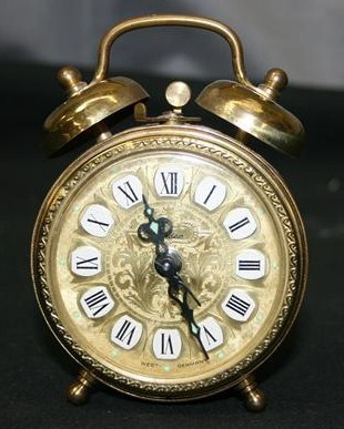 Antique Brass Linden Wind Up Alarm