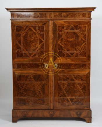 ARMOIRE MARQUETEE LOUIS XIV