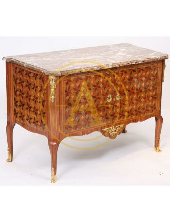 """EXCEPTIONNELLE COMMODE MARQUETEE ESTAMPILLEE """"CHEVALIER"""" (1700-1771)"""