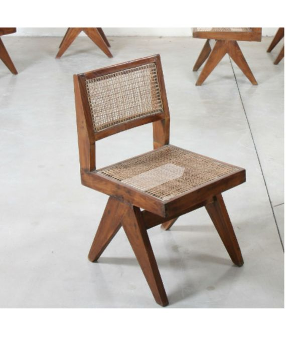 """Suite de 6 chaises """"DINING CHAIRS"""" de Pierre Jeanneret (1896-1967)"""