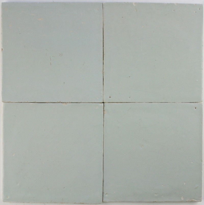 Original Antique Dutch Delft Plain White Wall Tiles In The