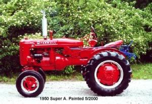 1950 Farmall Super A Antique Tractor