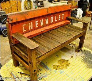 Tailgate chair, tailgate ideas, repurposed tailgate