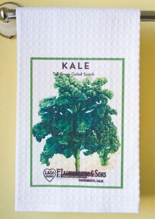 Kale Waffle Weave Towel