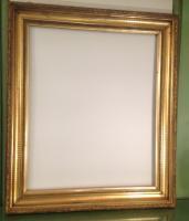 cadre ancien dore a la feuille d or19eme