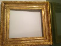 cadre a canaux bois et stuc dore 19eme