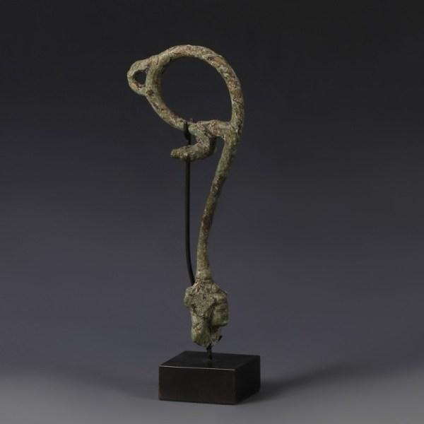 Bronze Bacchus Jug Handle