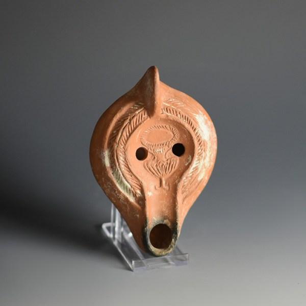 Roman Oil Lamp with Kantharos