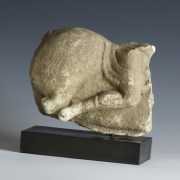 Roman Marble Sizable Fragment Of Horse and Rider