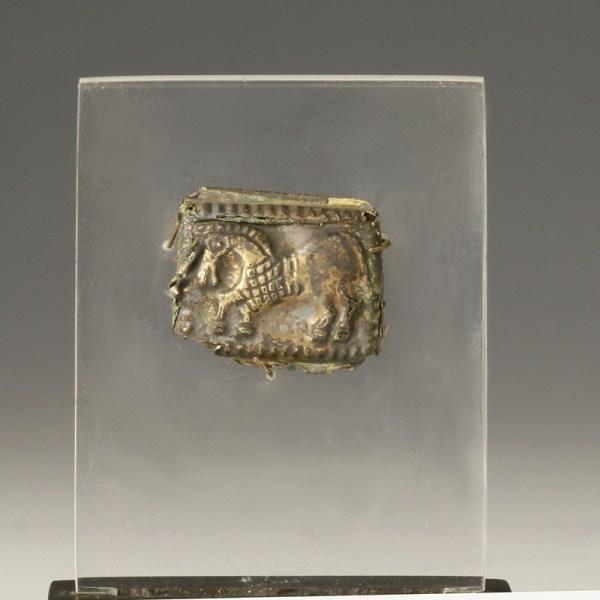 Medieval Gold Leaf Horse Appliqué Pair