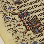 Framed Book of Hours Leaf