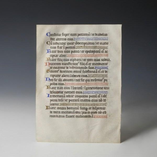Medieval Manuscript with Illumination
