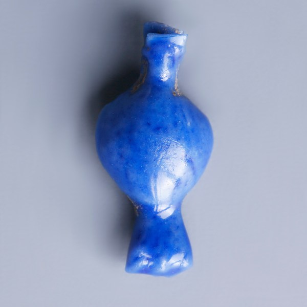 Egyptian Blue Glazed Flower Amulet