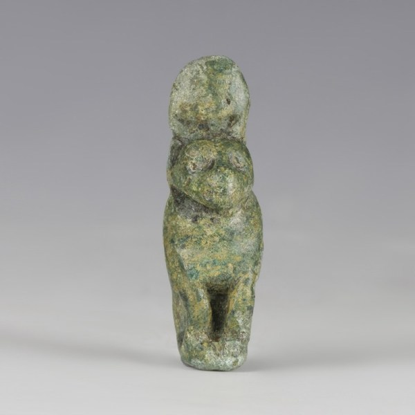 Egyptian Bronze Thoth Baboon Amulet