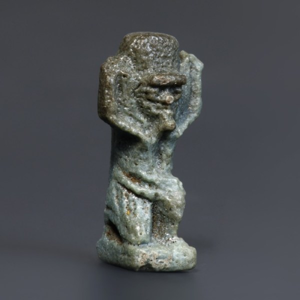 Egyptian Glazed Composition Shu Amulet