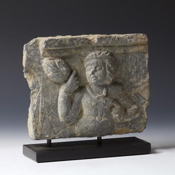 Gandhara Lady Bearing Lotus Relief