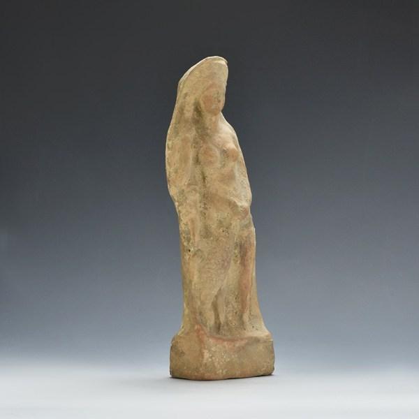 Greek Leda And The Swan Terracotta