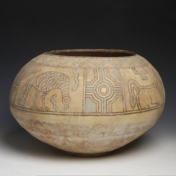 Large Indus Valley Polychrome Storage Jar