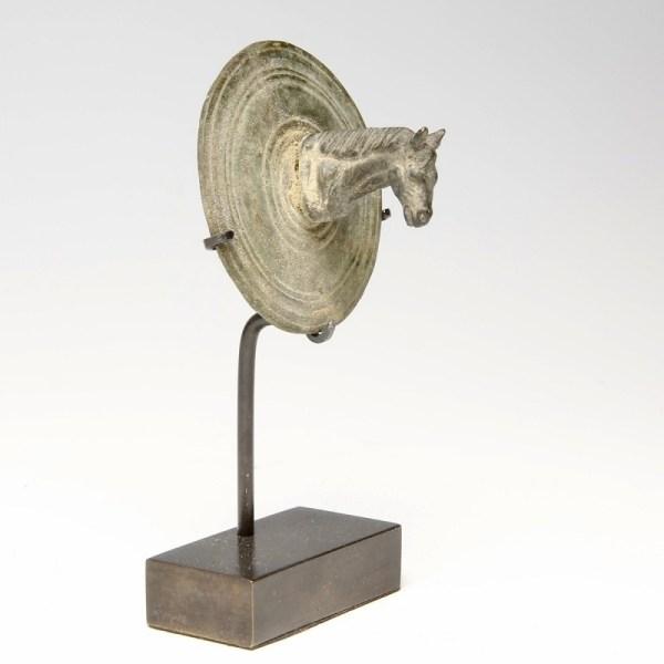 Roman Bronze Horse Head Fitting