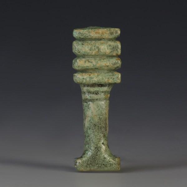 Superior Glaze Egyptian Djed Amulet