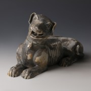 Chinese Kangxi Glazed Porcelain Dog