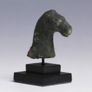Roman Bronze Head of a Horse