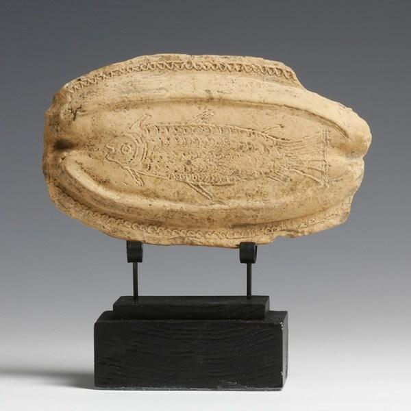 Rare Roman Terracotta Fish Plaque