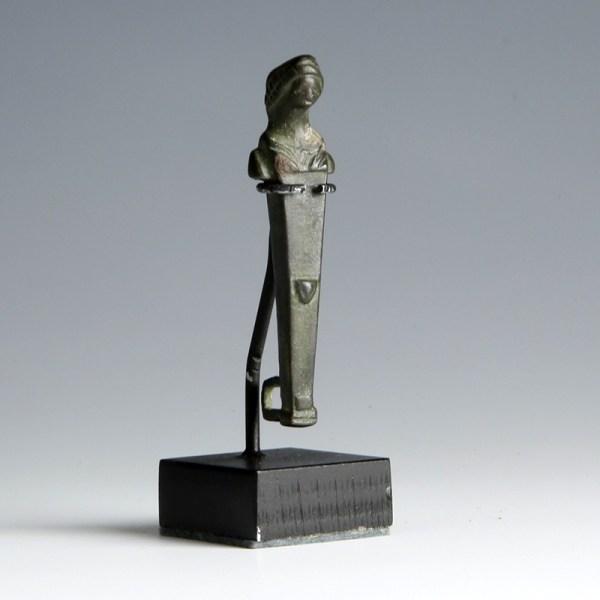 Roman Bronze Herm Hasp