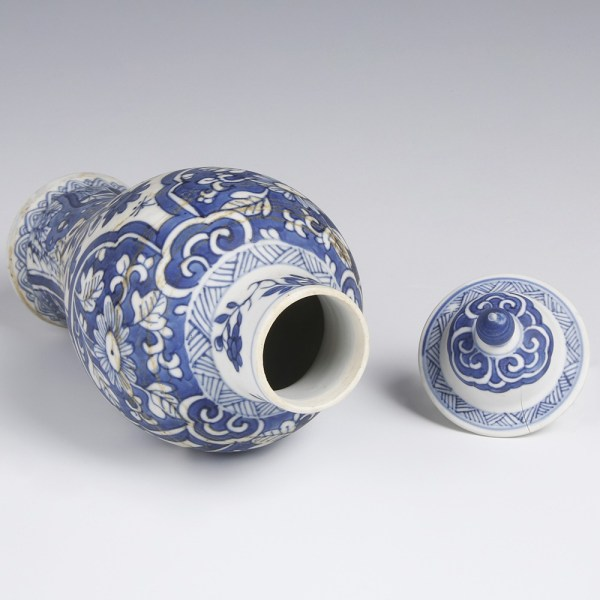 Kangxi Meiping Vase from the Blue-Chrysanthemum-Wreck