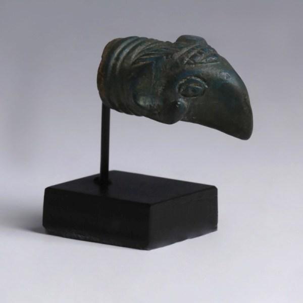 Roman Bronze Patera Finial in the Shape of a Ram