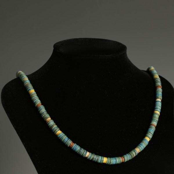 Egyptian New Kingdom Faience Necklace