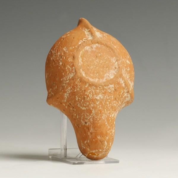 Provenanced Roman North Africa Redware Oil Lamp