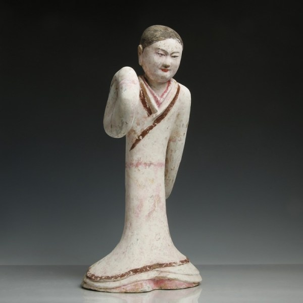 Large Chinese Han Dynasty Pottery Dancer