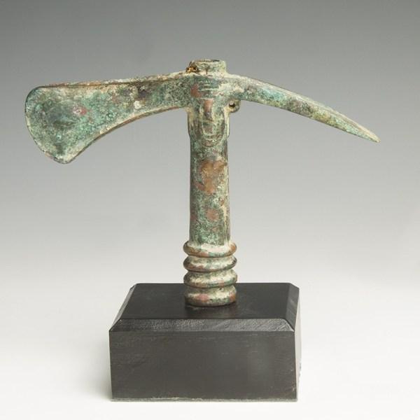 Luristan Decorated Bronze Adze- Axe