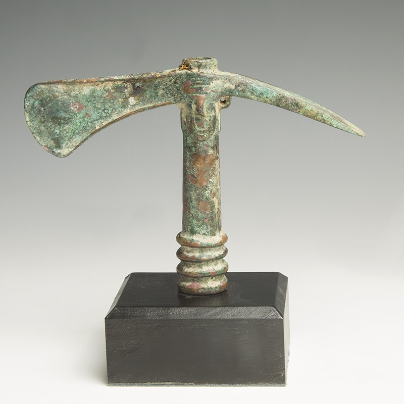 Luristan Decorated Bronze Adze- Axe