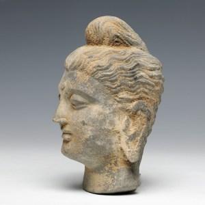 gandhara buddha stone head statue